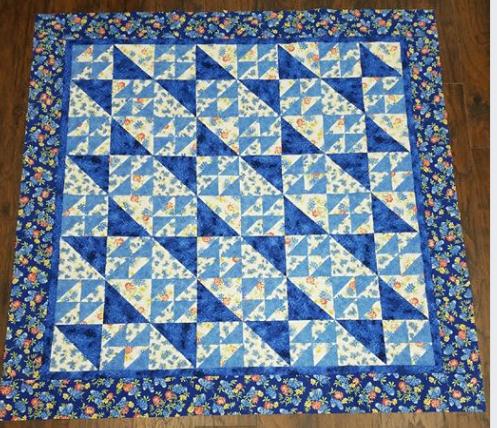 Quilt Top - Blue Crush - 59 x 59