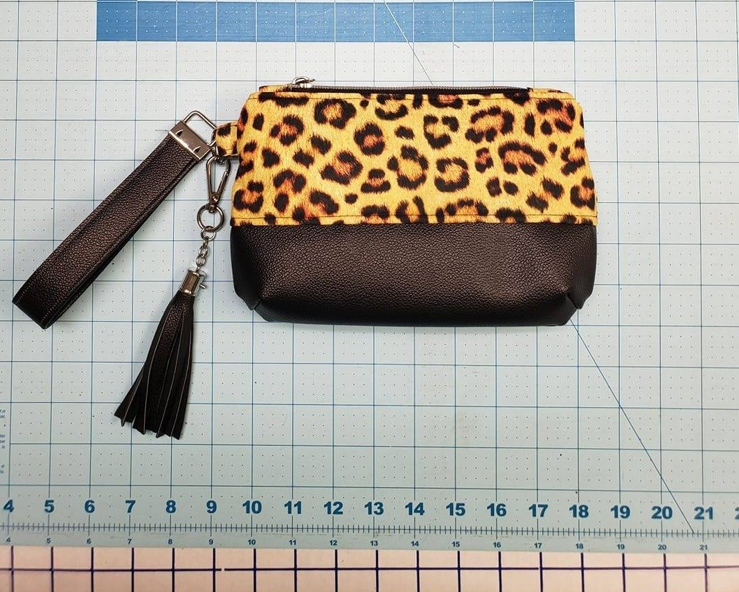 Cheetah Wristlet - Ready Made