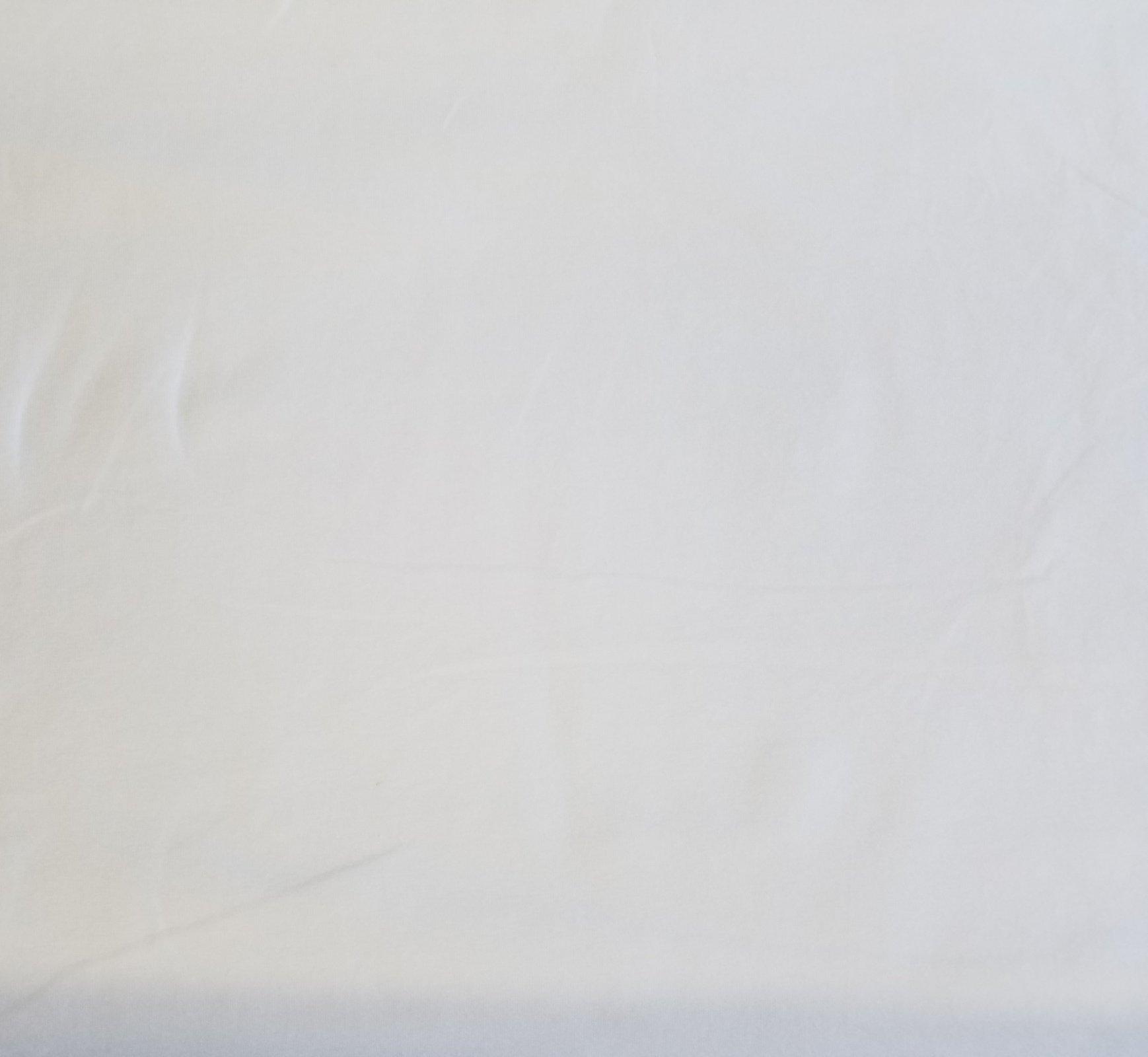 White - Cotton/Spandex Knit