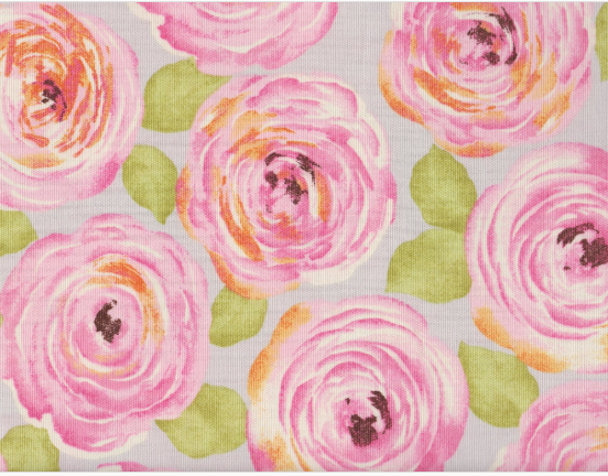 Rose Floral - Duck Cloth