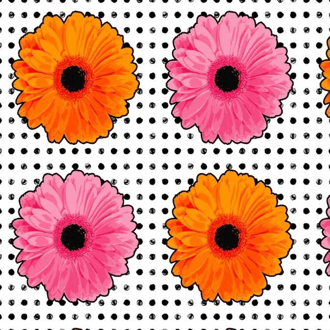 Flower Power - Pink/Orange
