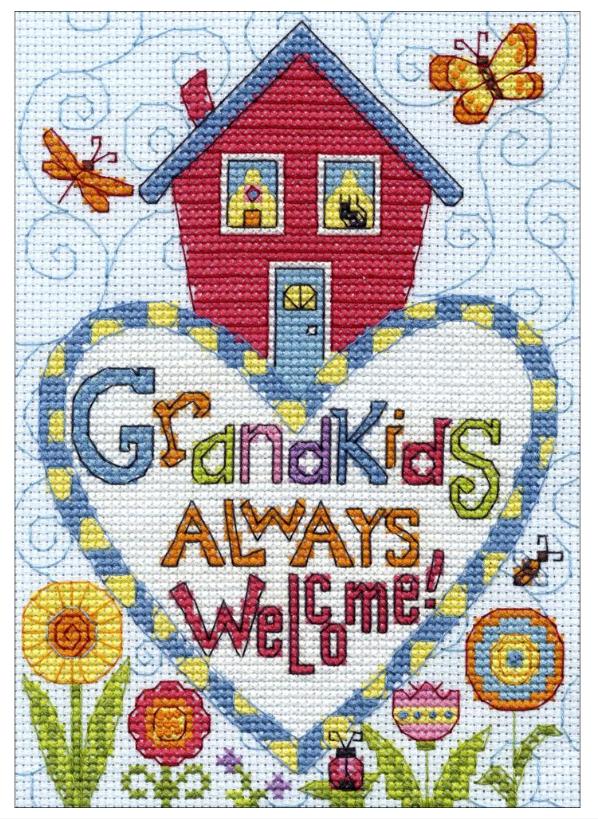 Counted Cross Stitch Kit - Grandkids