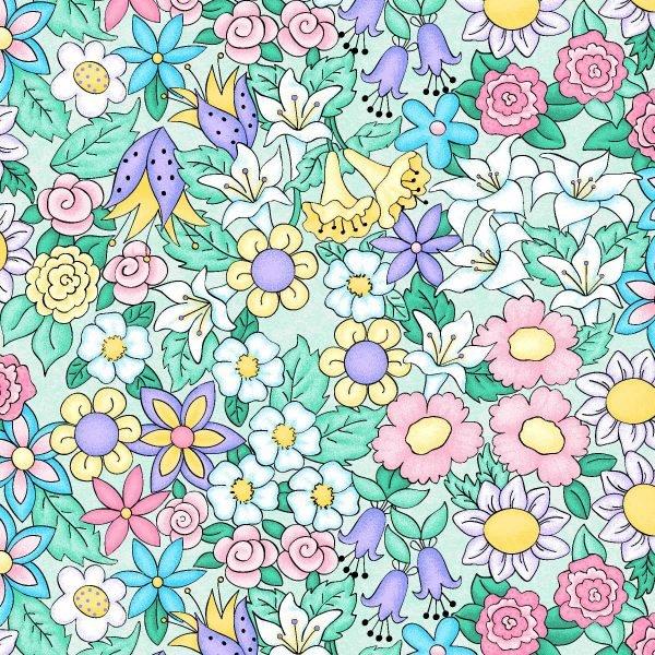 Best Friends - Flower Field - Mint