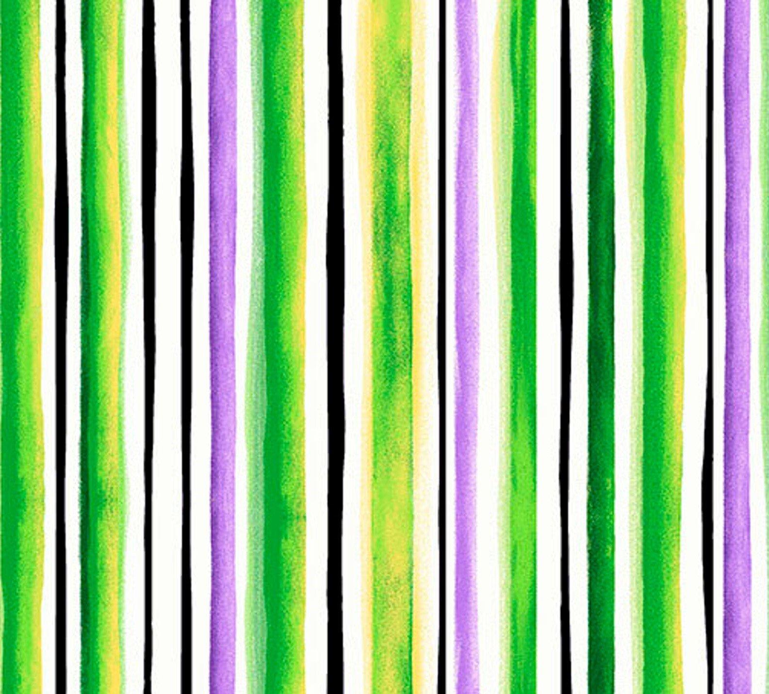 Brooke - Watercolor Stripe - Green