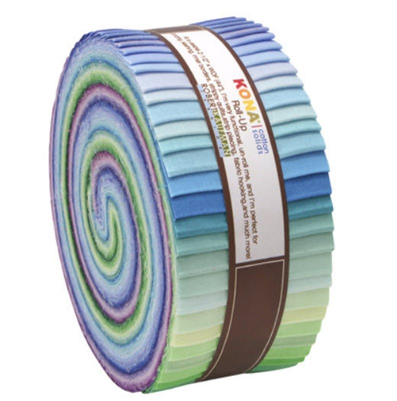 2-1/2in Strips Roll Up Kona Solids Sunset ColorStory