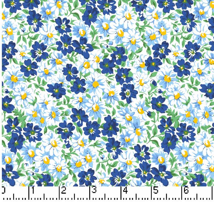 Flower Patch - Navy