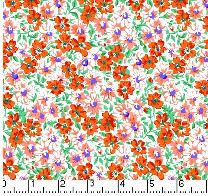 Flower Patch - Orange