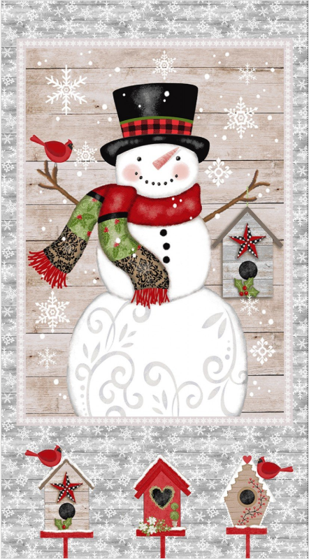 Snowman Panel 24 x 44 - Snow Place Like Home