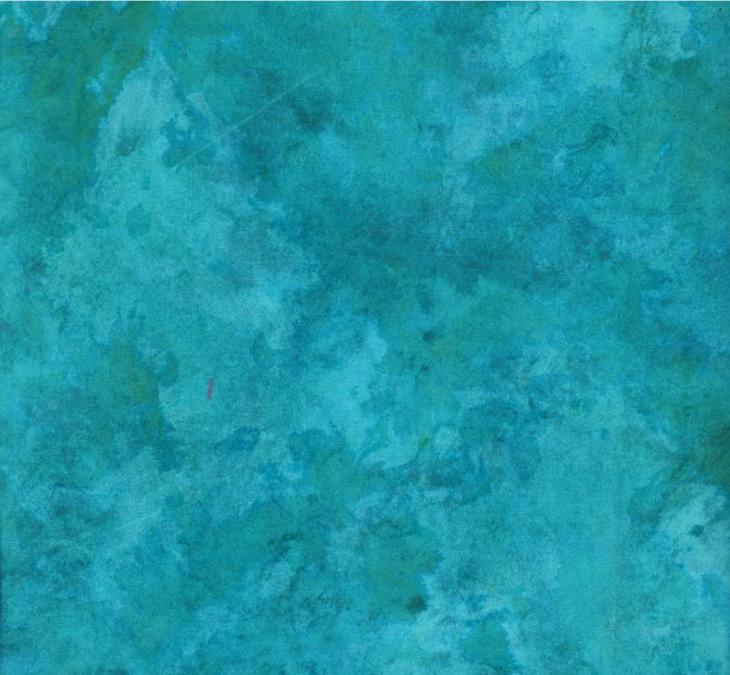 Marbled Turquoise - Tie-Dye Batik