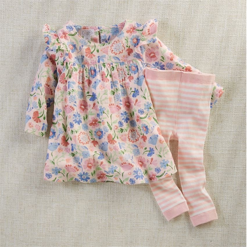 Muslin Floral Dress and Pants