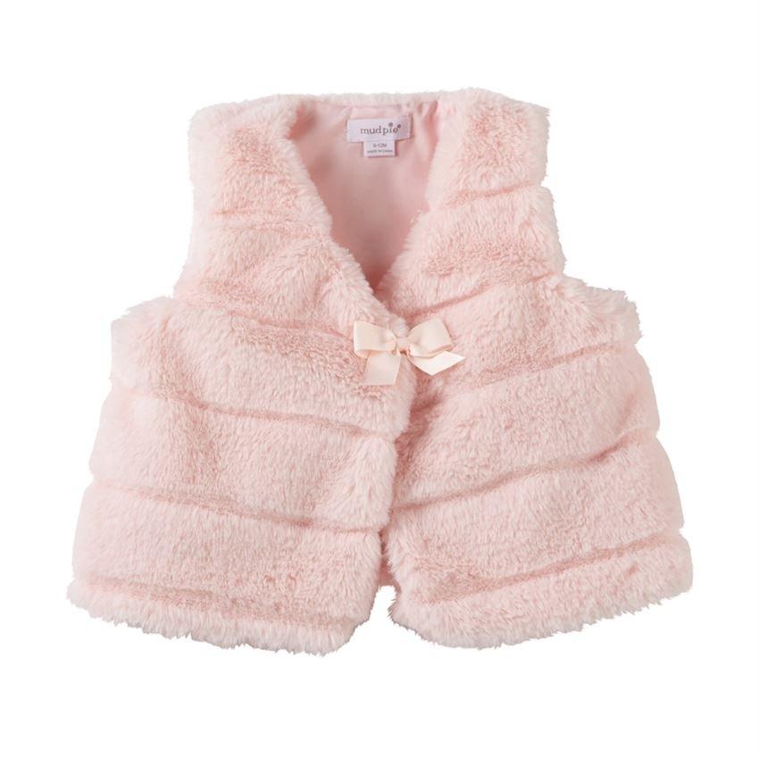 Infant Pink Fur Vest
