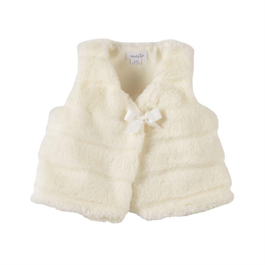 Infant Ivory Fur Vest