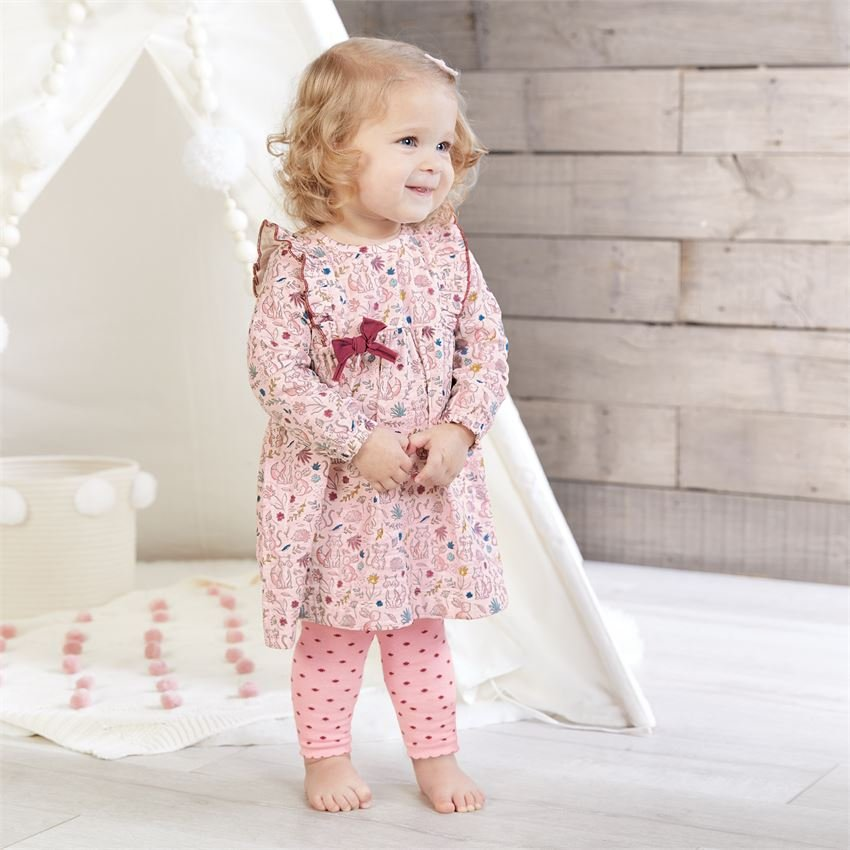 Forest Muslin Dress and Tights