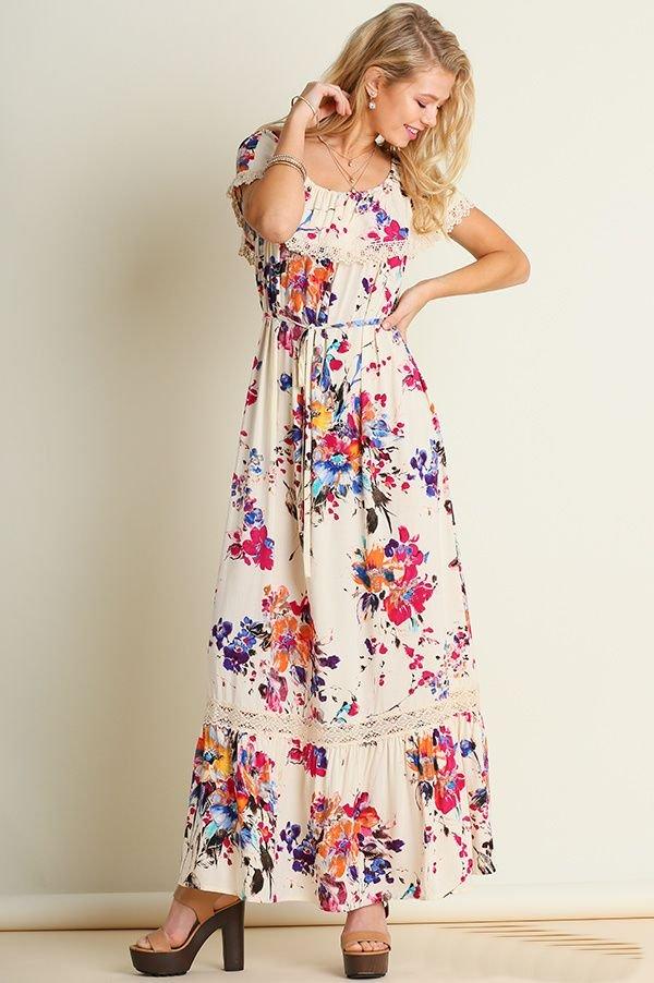 G0042 - Floral Maxi Dress