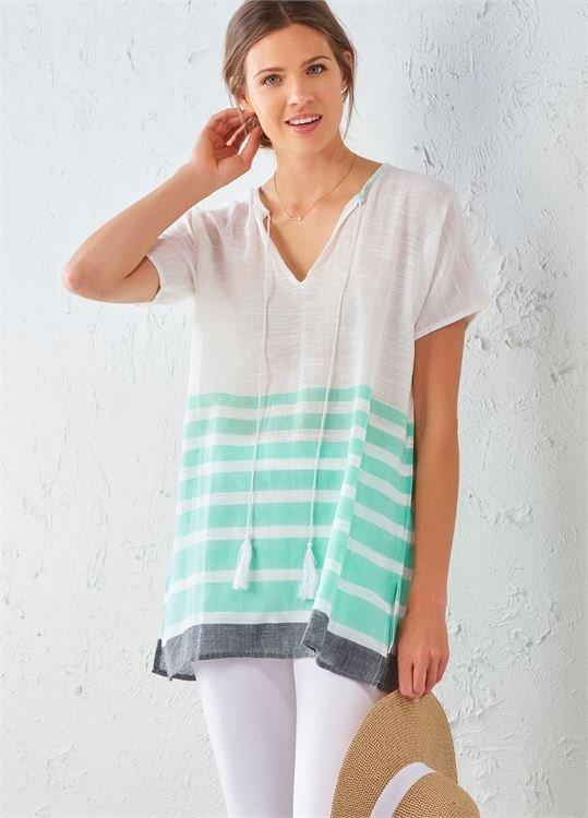 Block Stripe Tunic