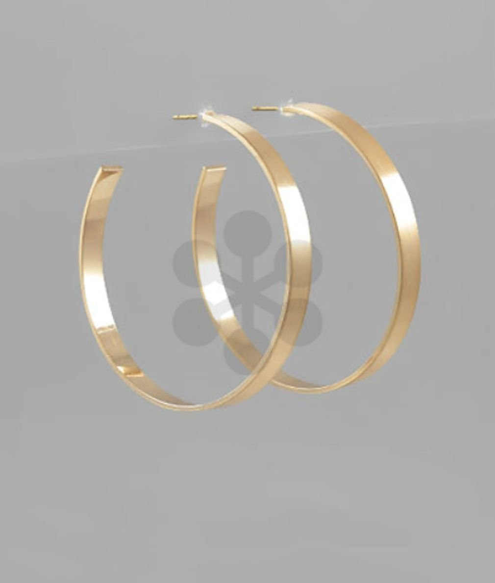 40mm Flat Open Hoops