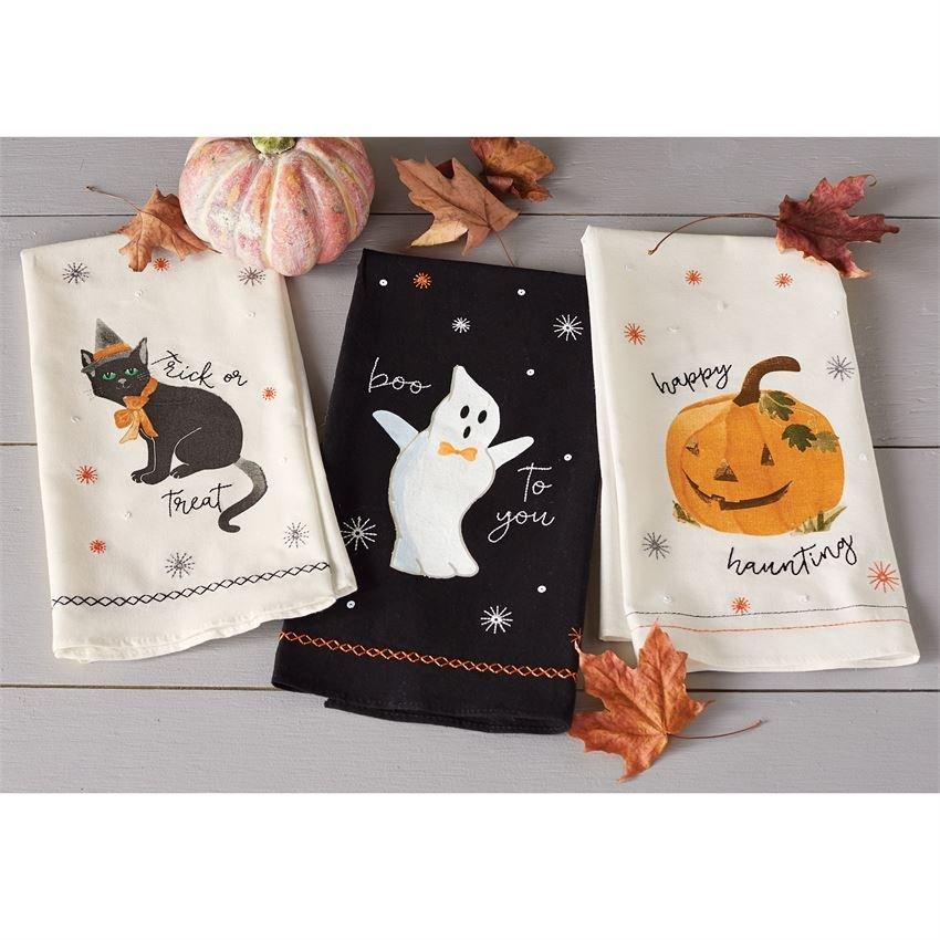 Halloween Sequin Hand Towels