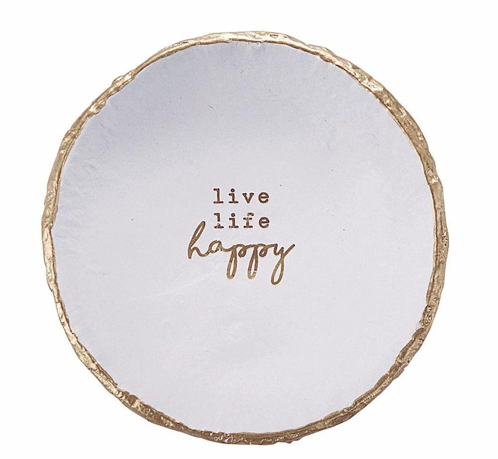 Live LIfe Happy Trinket Dish