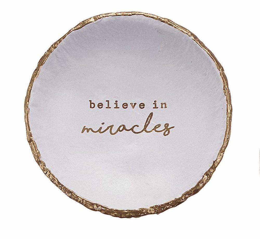 Believe in Miracles Trinket Dish