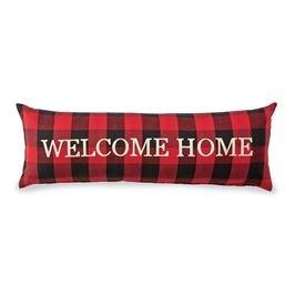 Welcome Home Buffalo Check Long Pillow