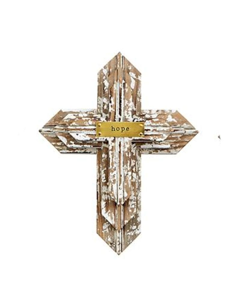 Hope Layered Wooden Cross