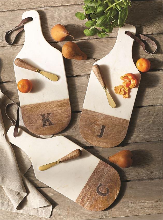 Wood & Marble Initial Cutting Board