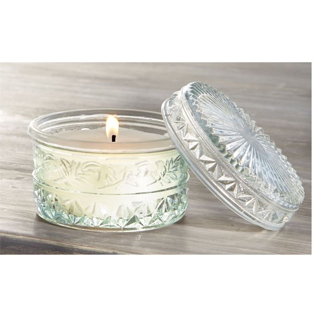 Cut Glass Lavender Candle