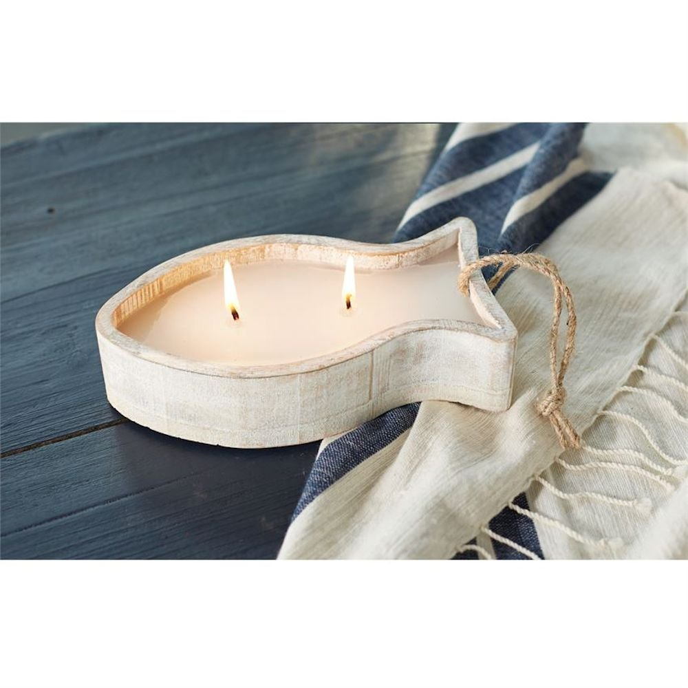 Wood Fish Citronella Candle