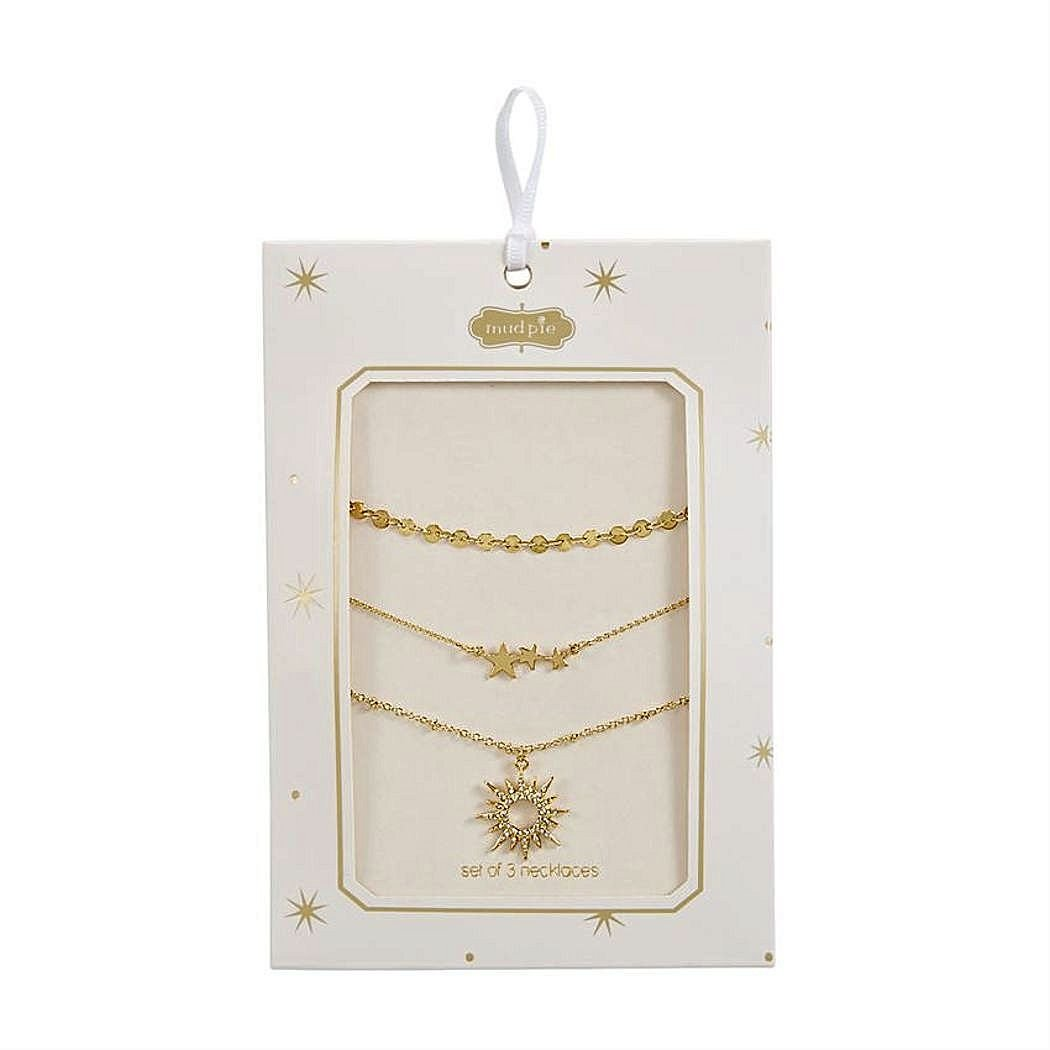 Stardust Layering Necklace Set of 3 (Starburst)