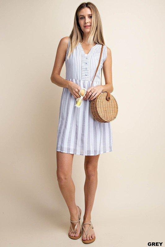Stripe Grey Dress