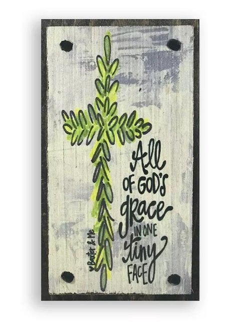 Block Art - All of God's Grac in on Tiny Gace
