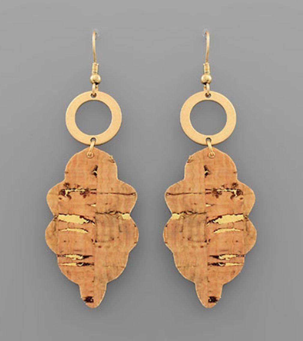 Arabesque Cork & Circle Earrings