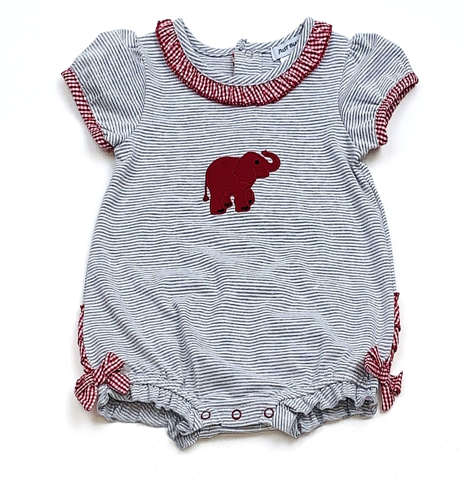Elephant Short Sleeve Girl Romper