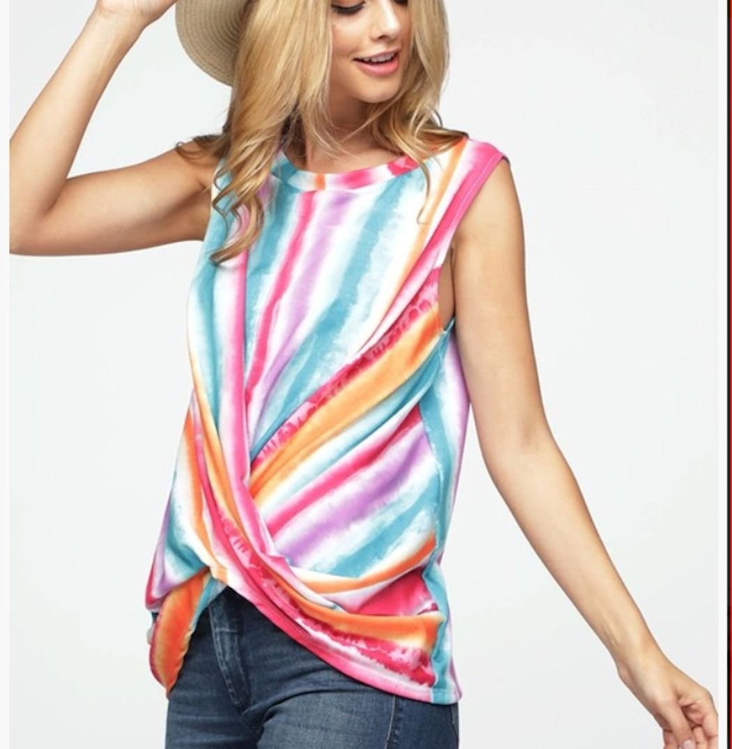 Multi Color Twisted Top