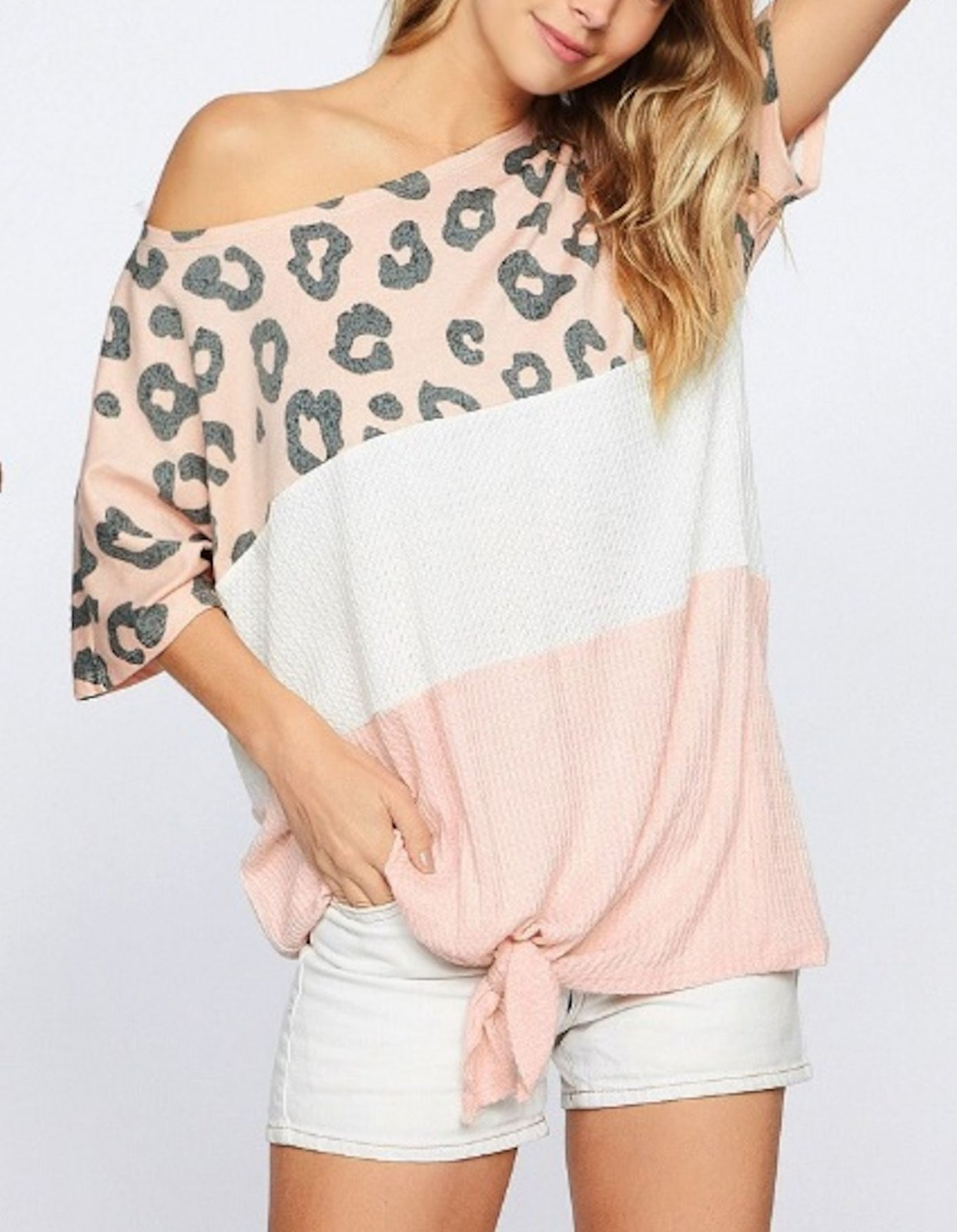Leopard Terry Waffle Top