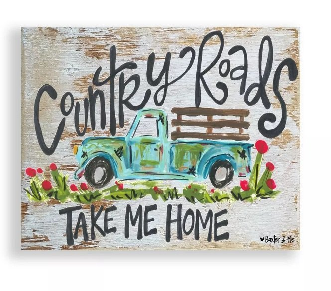 Country Roads Take Me Home Canvas