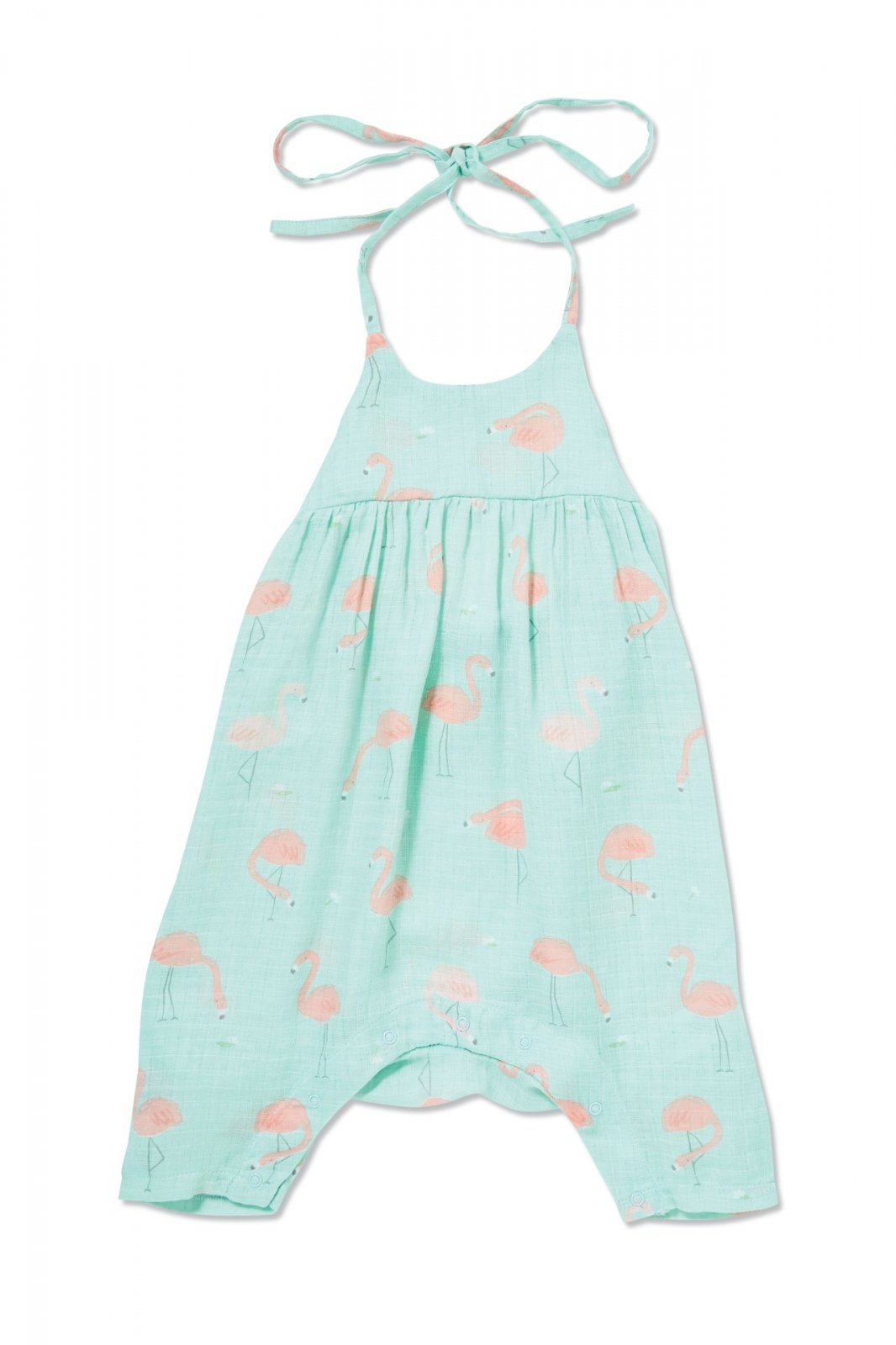 Flamingo Romper with Bow Back