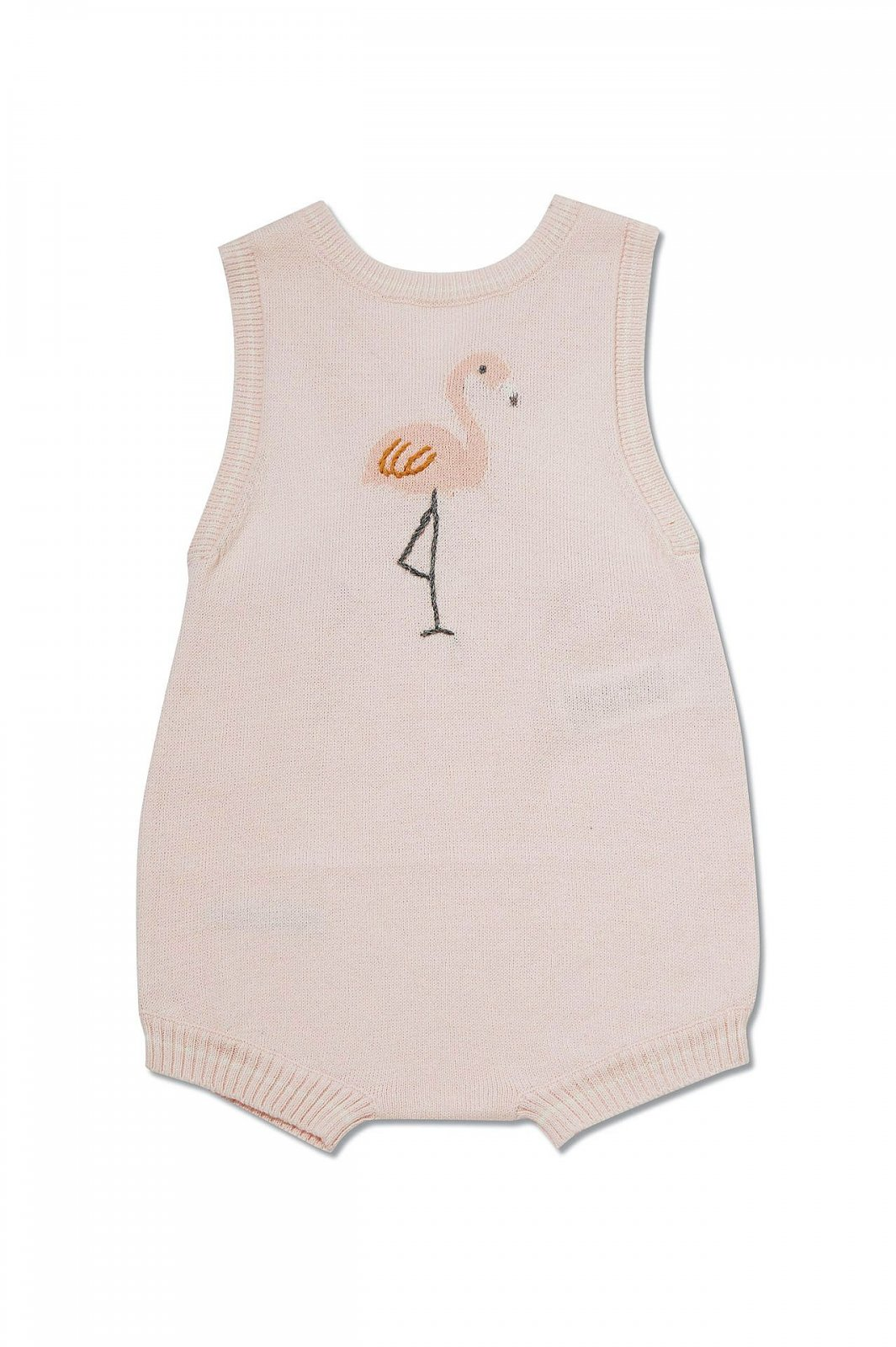 Flamingo Knit Sunsuit