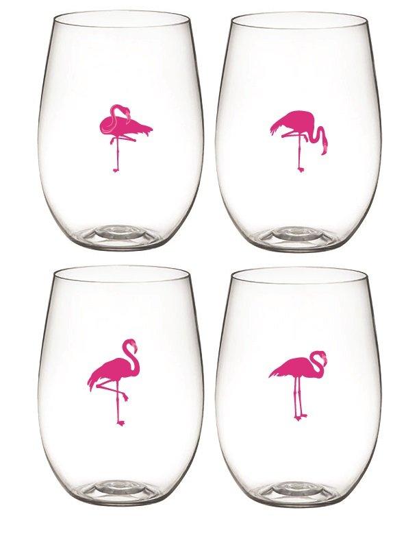 Flamingo Wine Glasses