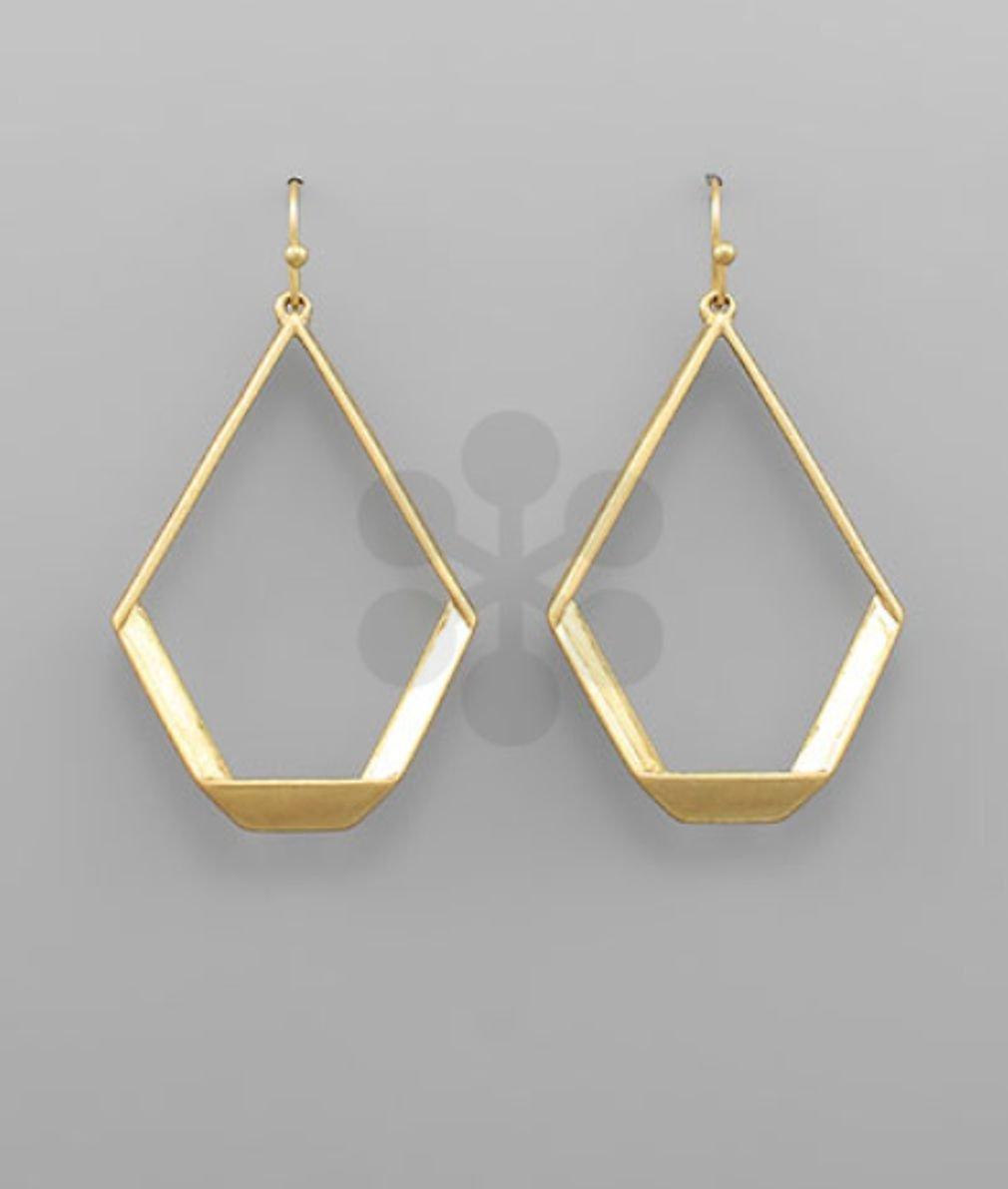 Fold T-Drop Earrings