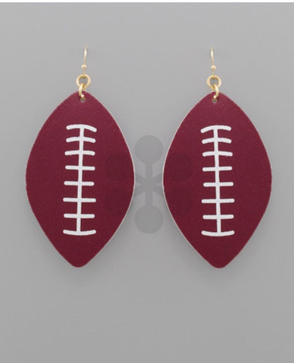 Football Leather Earrings