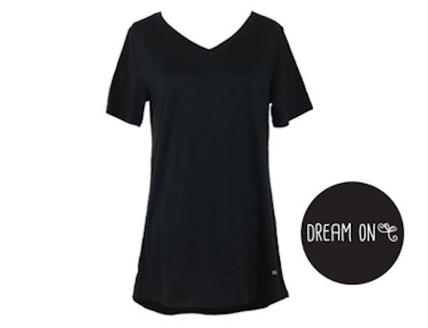 Black N-Neck Lounge Tee Shirt