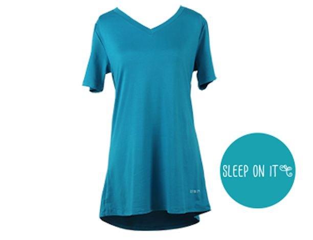 Turquoise V-Neck Lounge Tee Shirt