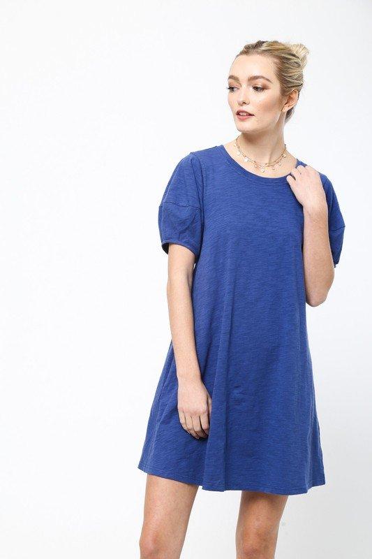 Blue TeeShirt Dress