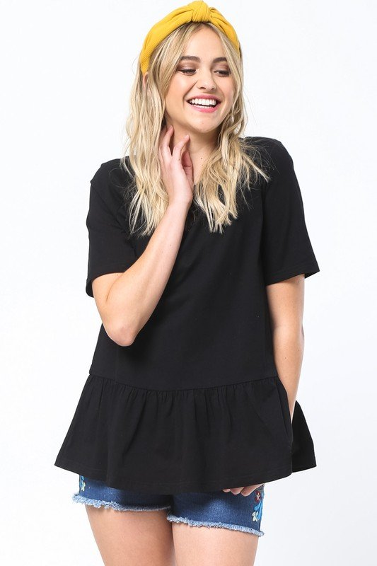 Black CrissCross Back Top