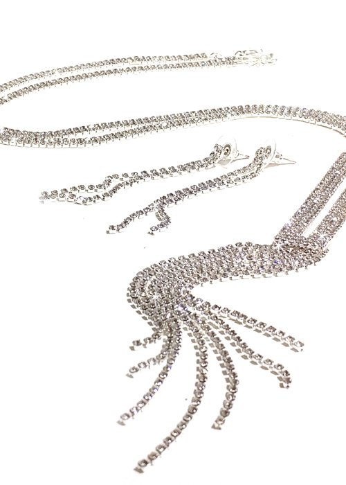 Necklace and Earring Set Silver