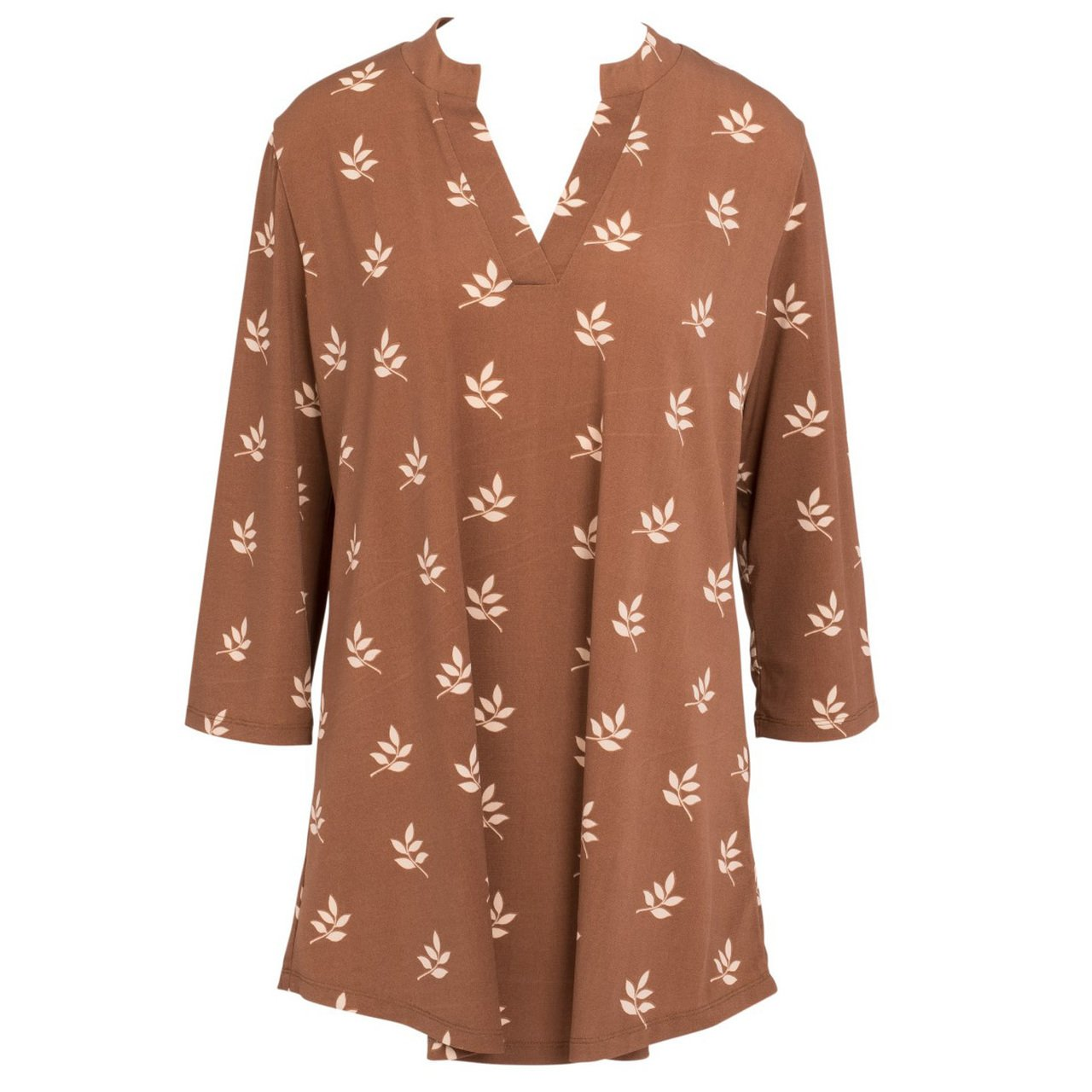 Cocoa Leaves Silky Tunic