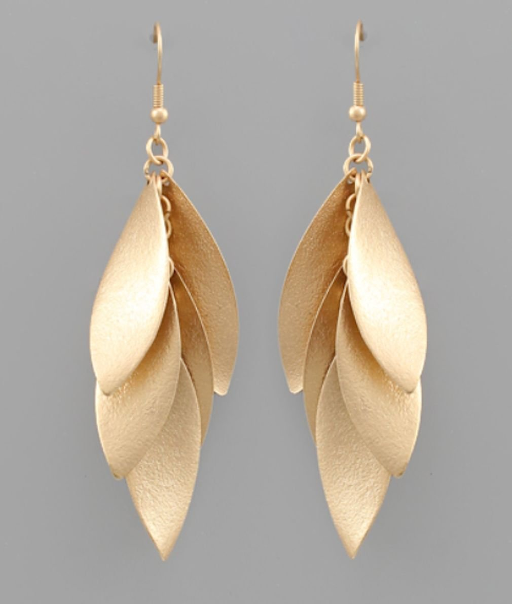 Multi Curved Marquise Earrings