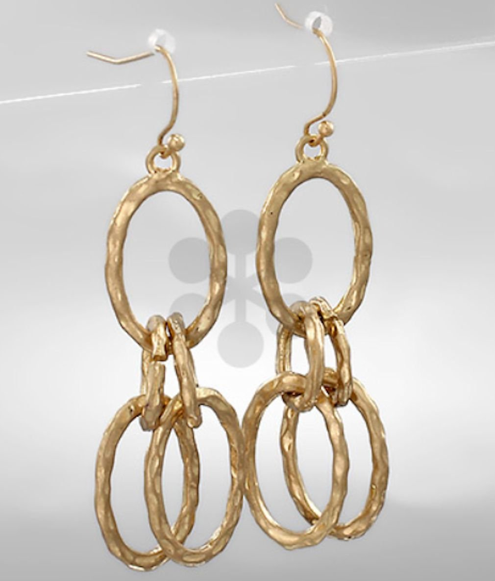 Oval Cascade w/Fish Hook Earrings