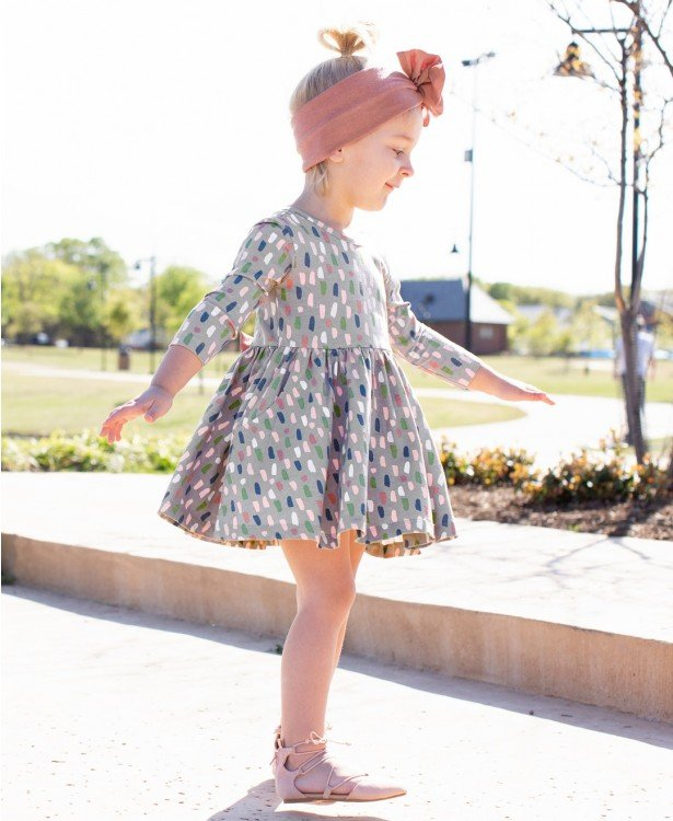 Brushed Confetti Twirl Dress